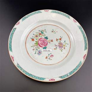 Pair of Qing Dynasty Famille Rose Porcelain Plates
