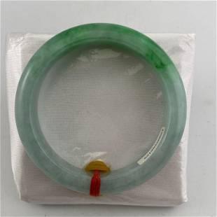 Natural Green Jadeite Bangle