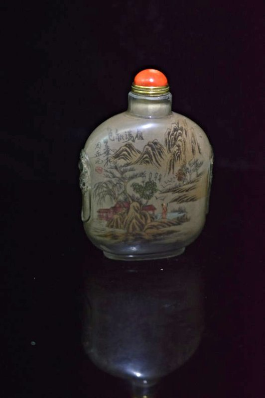 Large inside painted snuff bottle