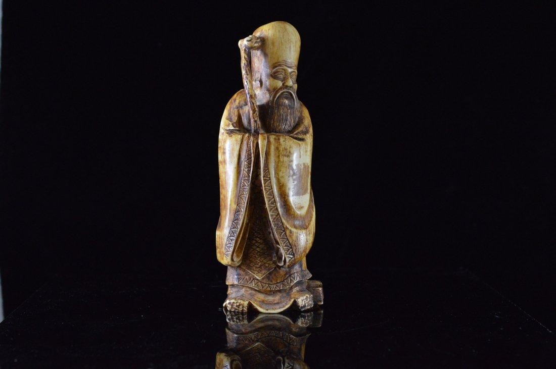 Bone Carved Statue
