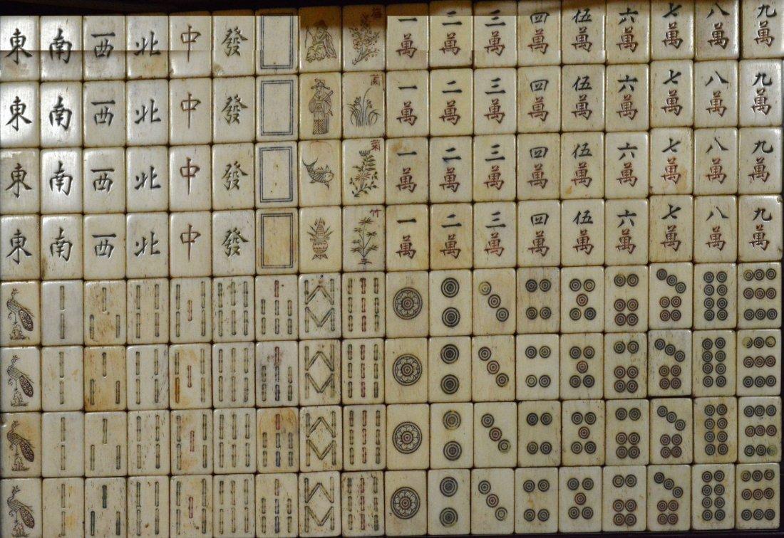 Set of Bamboo Mahjong w/ box