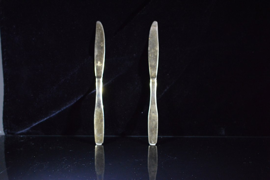 Pair of Gold Plated Butterknives