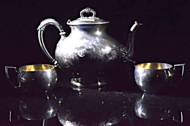 3 Pieces European Tea Set