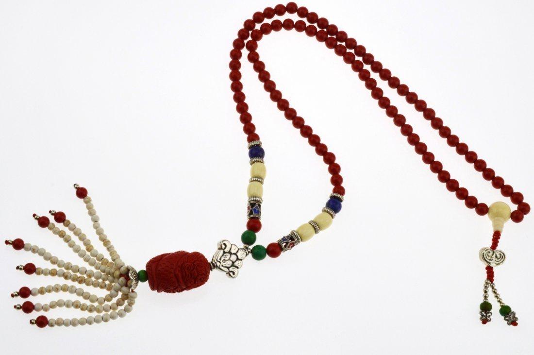 Red Cinnabar Necklace