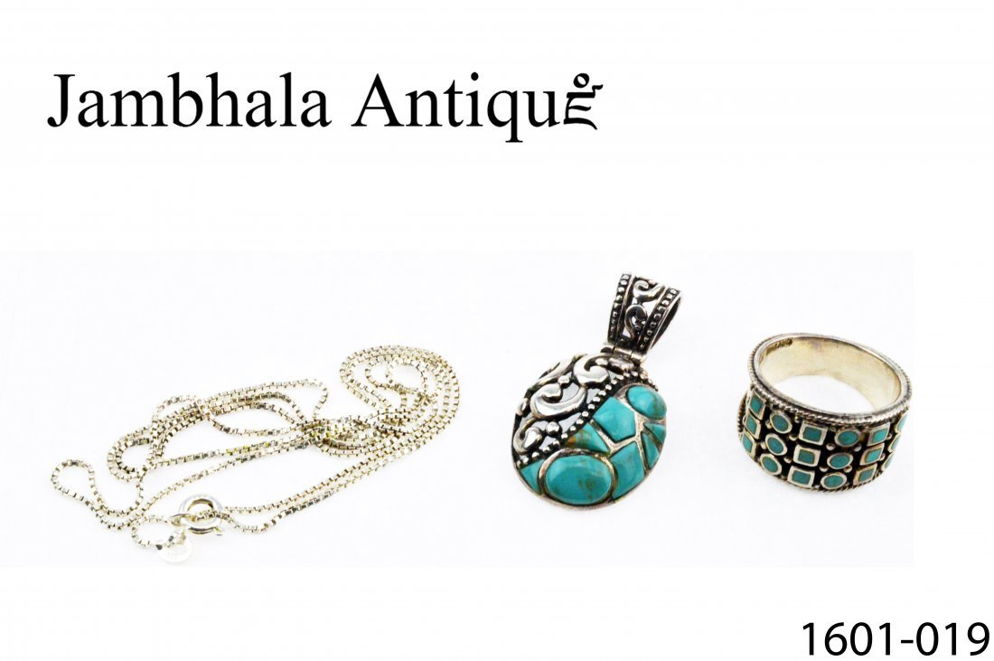 Turquoise Silver Necklace & Ring