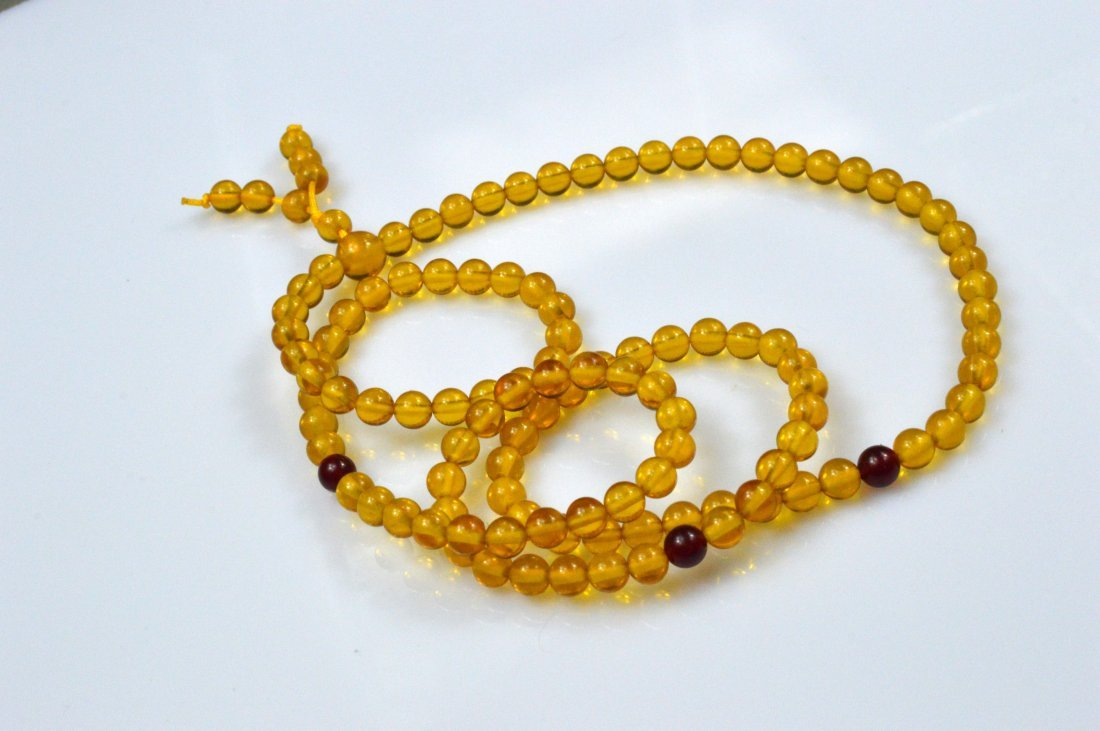 Golden Amber Beads Necklace