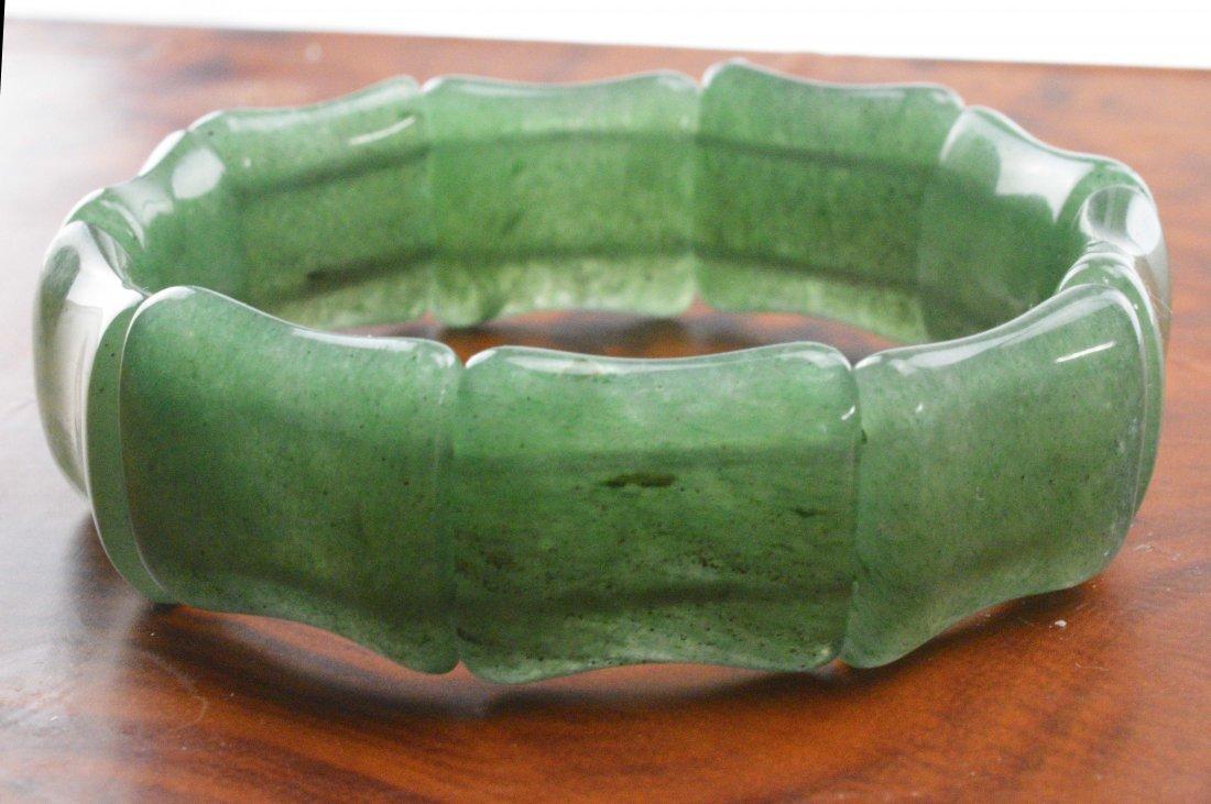 Jade Carved Bamboo Joints Bracelet