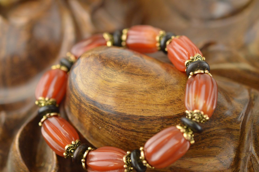 Pumpkin Agate Bracelet