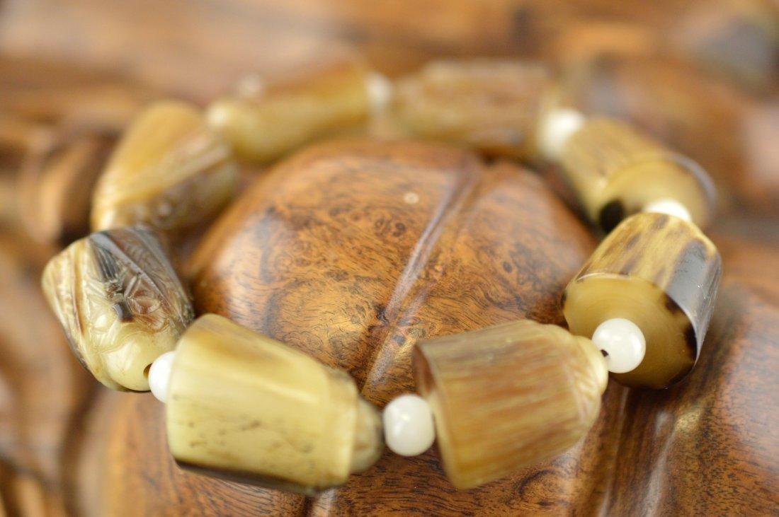Deer Horn Carved Shouxing Bracelet