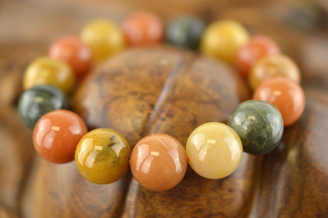 Multi-Color Jade Beads Bracelet