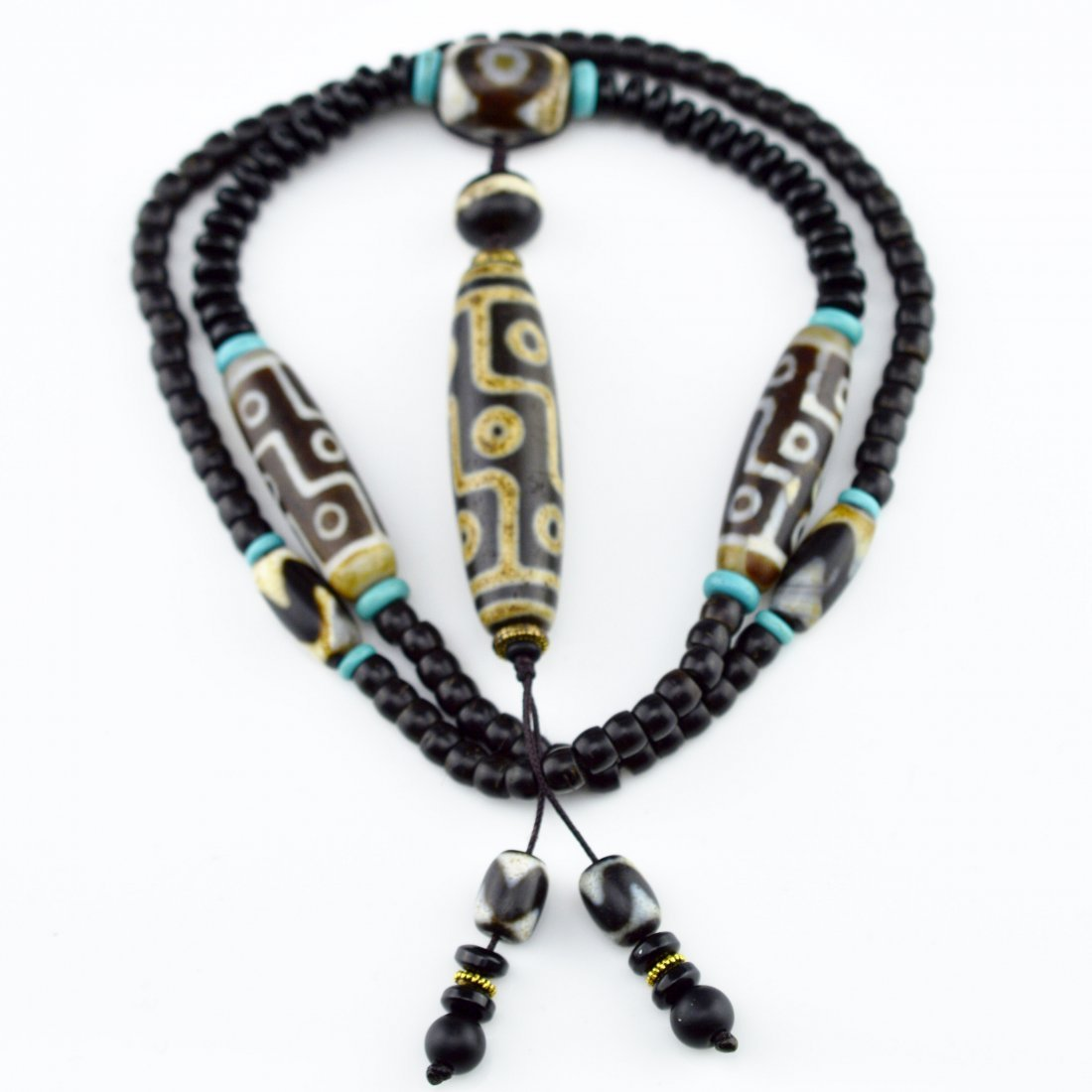 Nine-Eye Dzi Bead Necklace