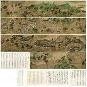 """""""Along the River During the Qingming Festival"""" Scroll"""