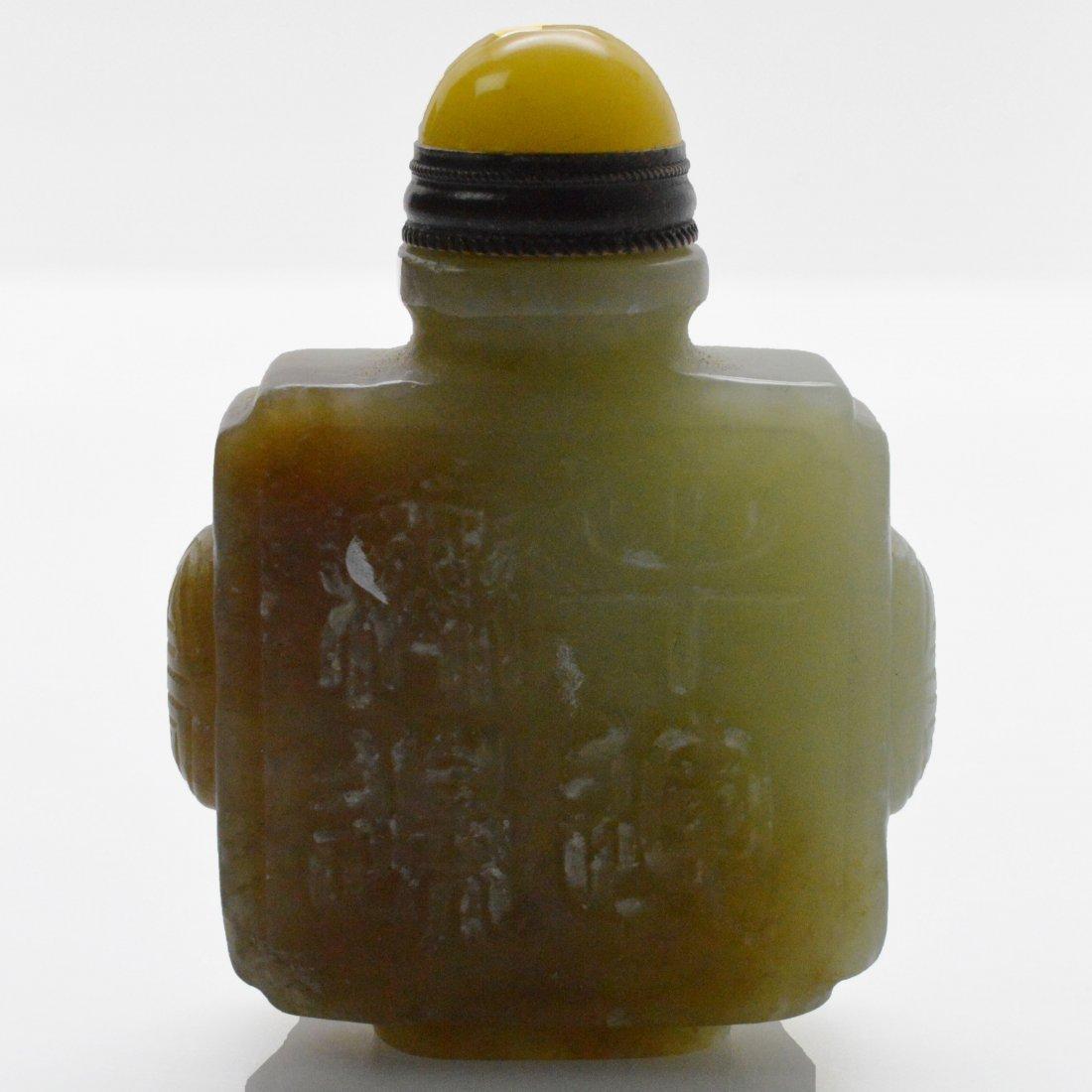 Jade Carved Ox Snuff Bottle