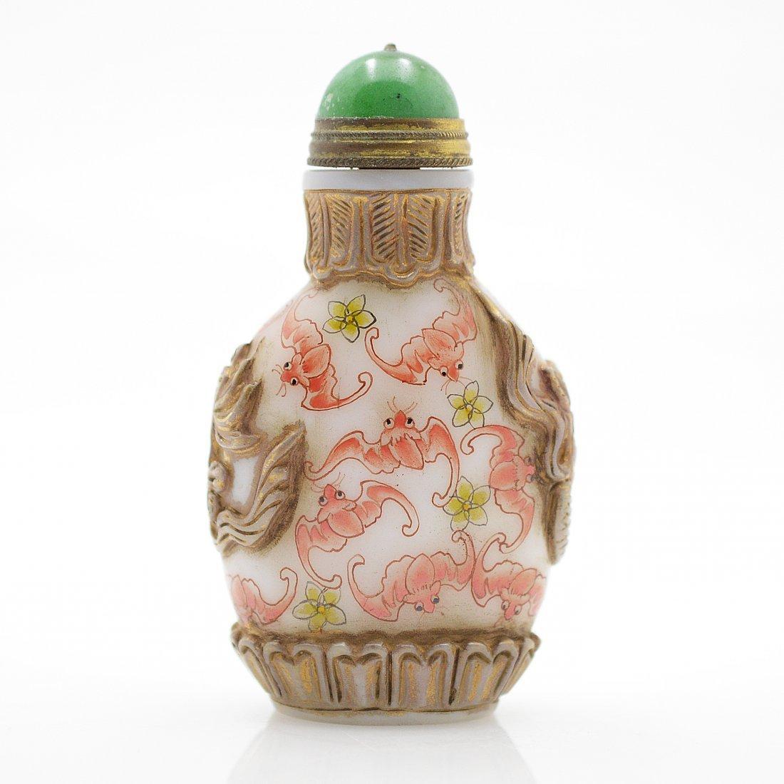 Vintage Marked Liuli Snuff Bottle - 3