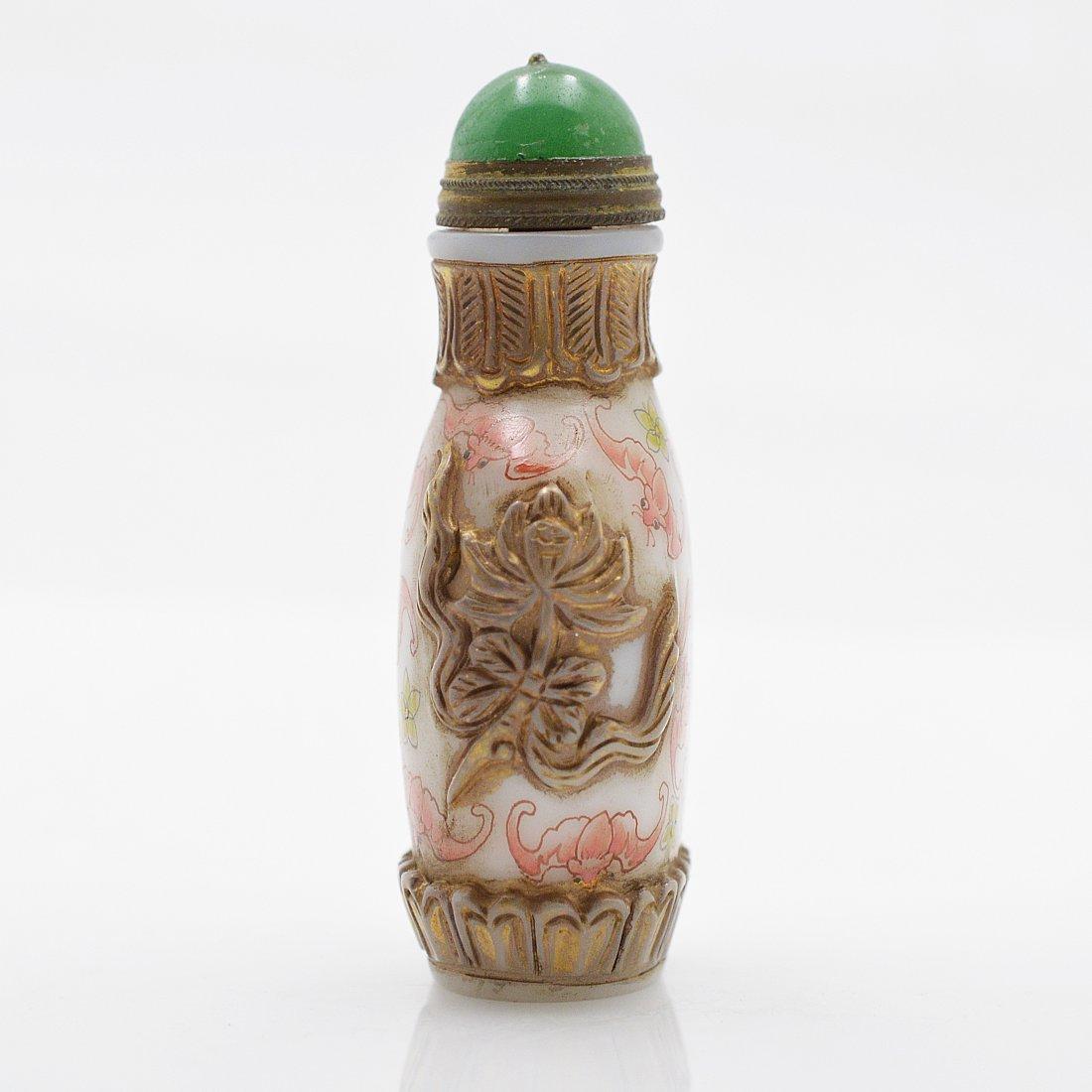 Vintage Marked Liuli Snuff Bottle - 4