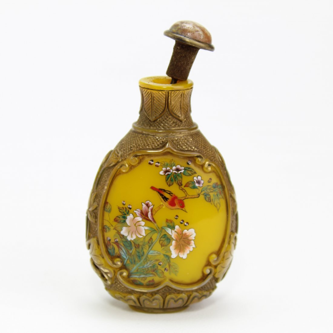 Marked Vintage Liuli Snuff Bottle - 2