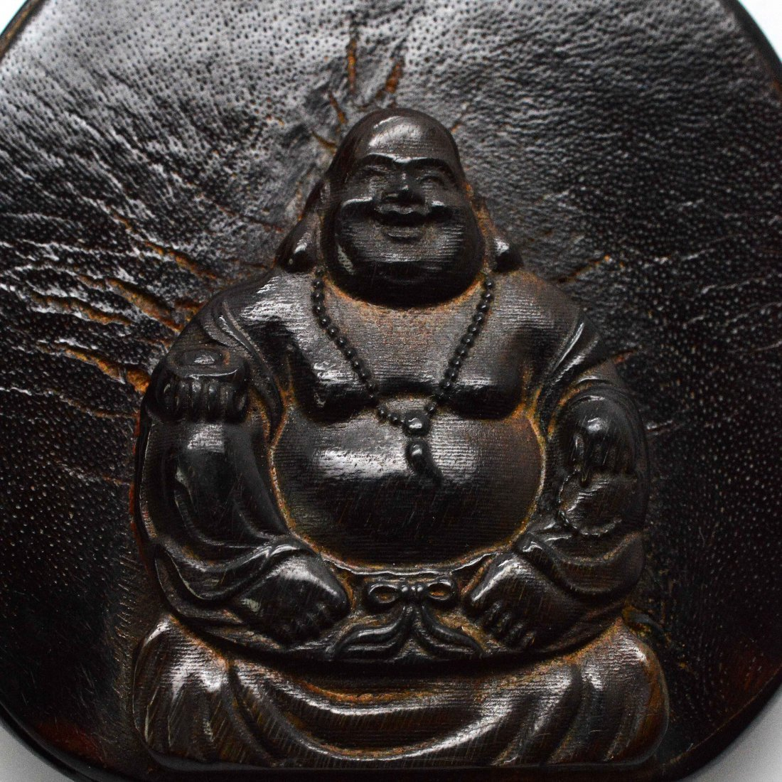 Horn Carved Happy Buddha Pendant - 3