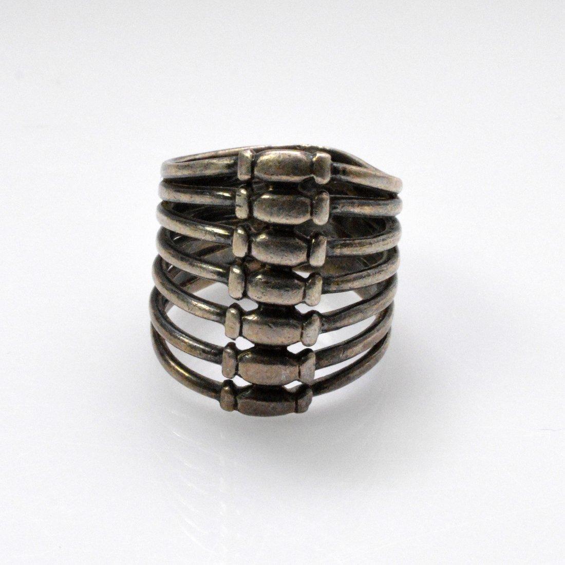 Medicine Buddha Dzi Beads Necklace + Vintage Silver - 5