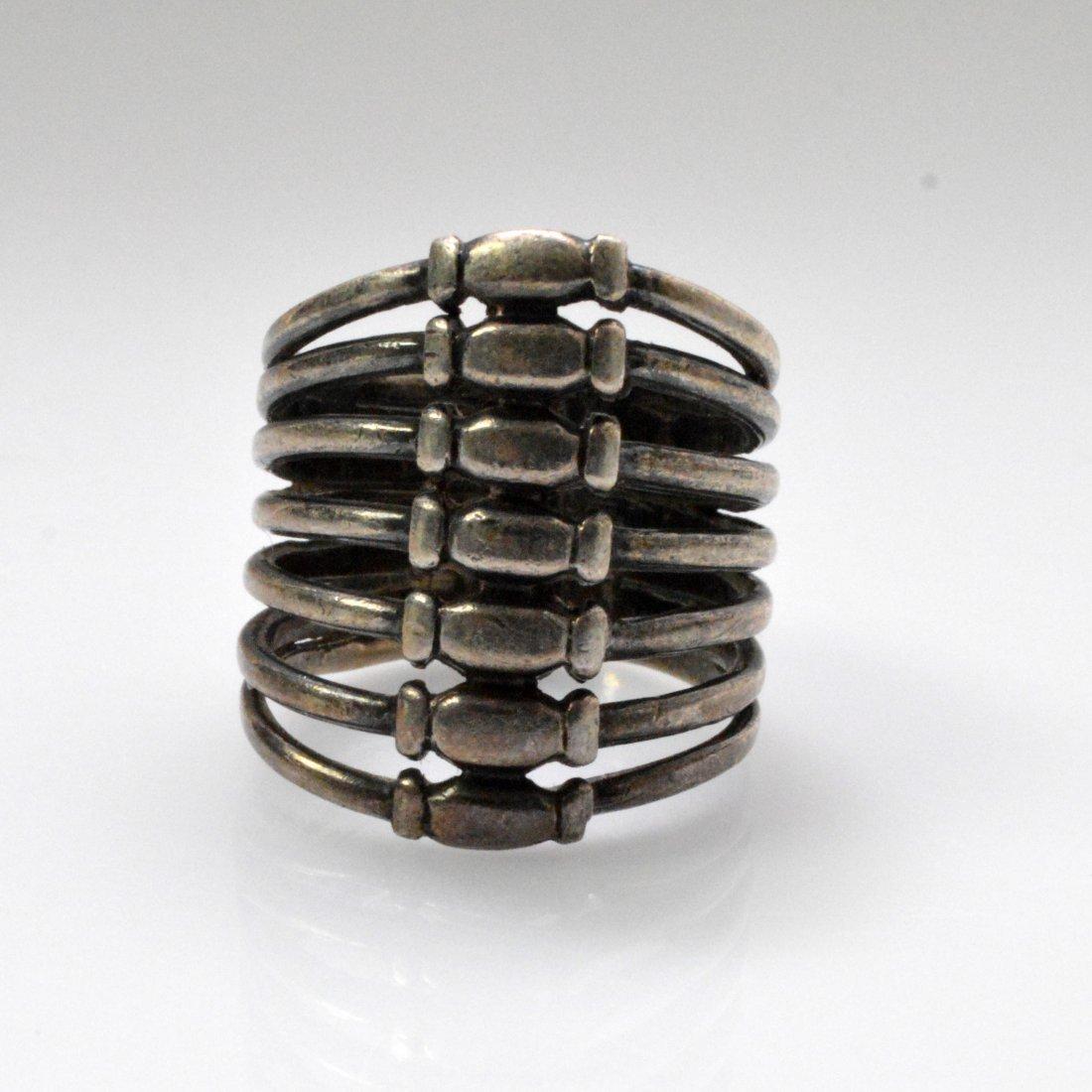 Medicine Buddha Dzi Beads Necklace + Vintage Silver - 6