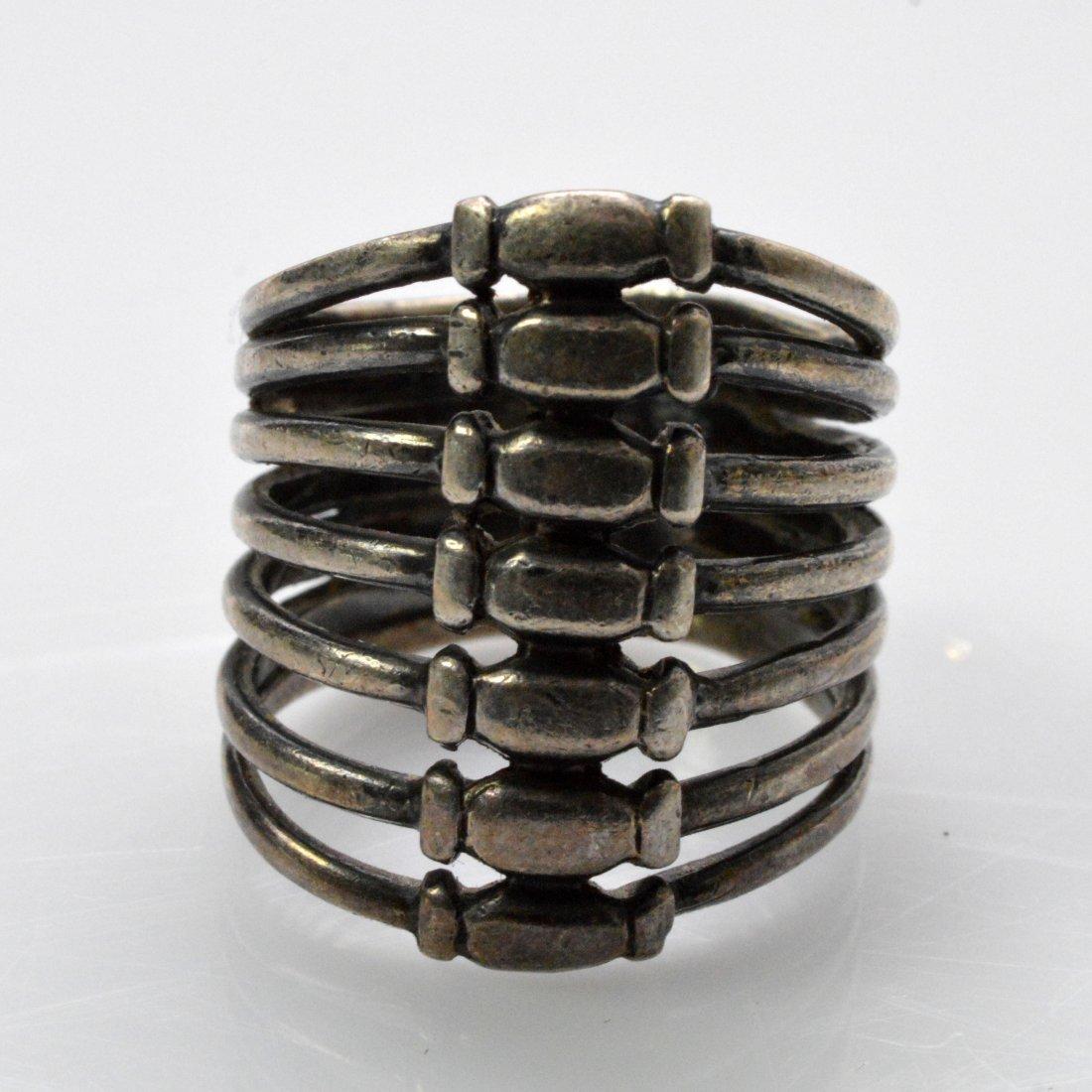 Medicine Buddha Dzi Beads Necklace + Vintage Silver - 8