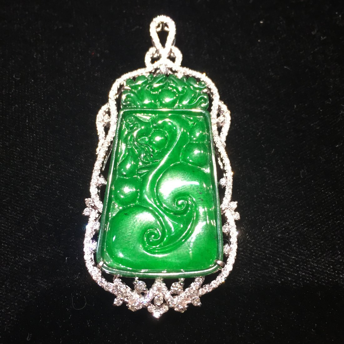 Certified Natural Burma Glassy Imperial Jadeite 18k