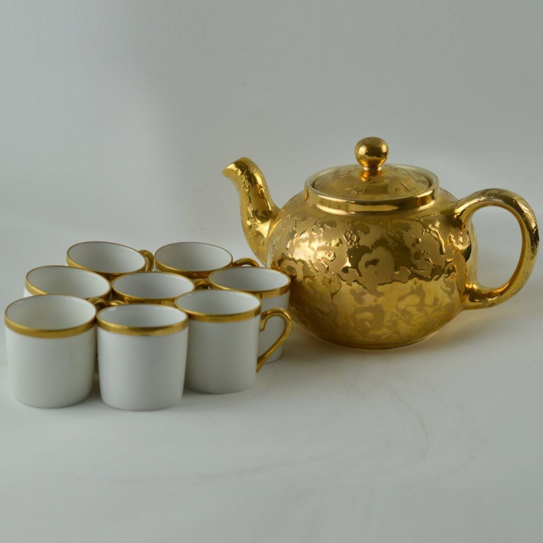 Set of 9 Pcs Gilt Tea Set