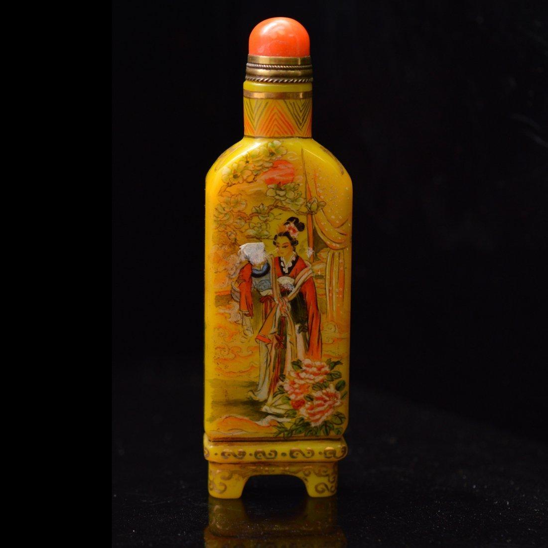 Marked Liuli Snuff Bottle - 2