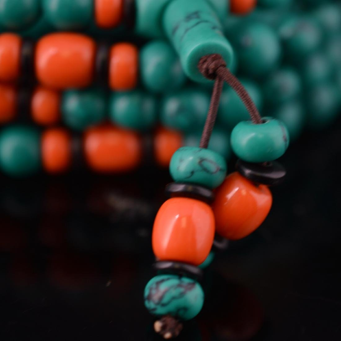 Turquoise Bead Necklace - 3