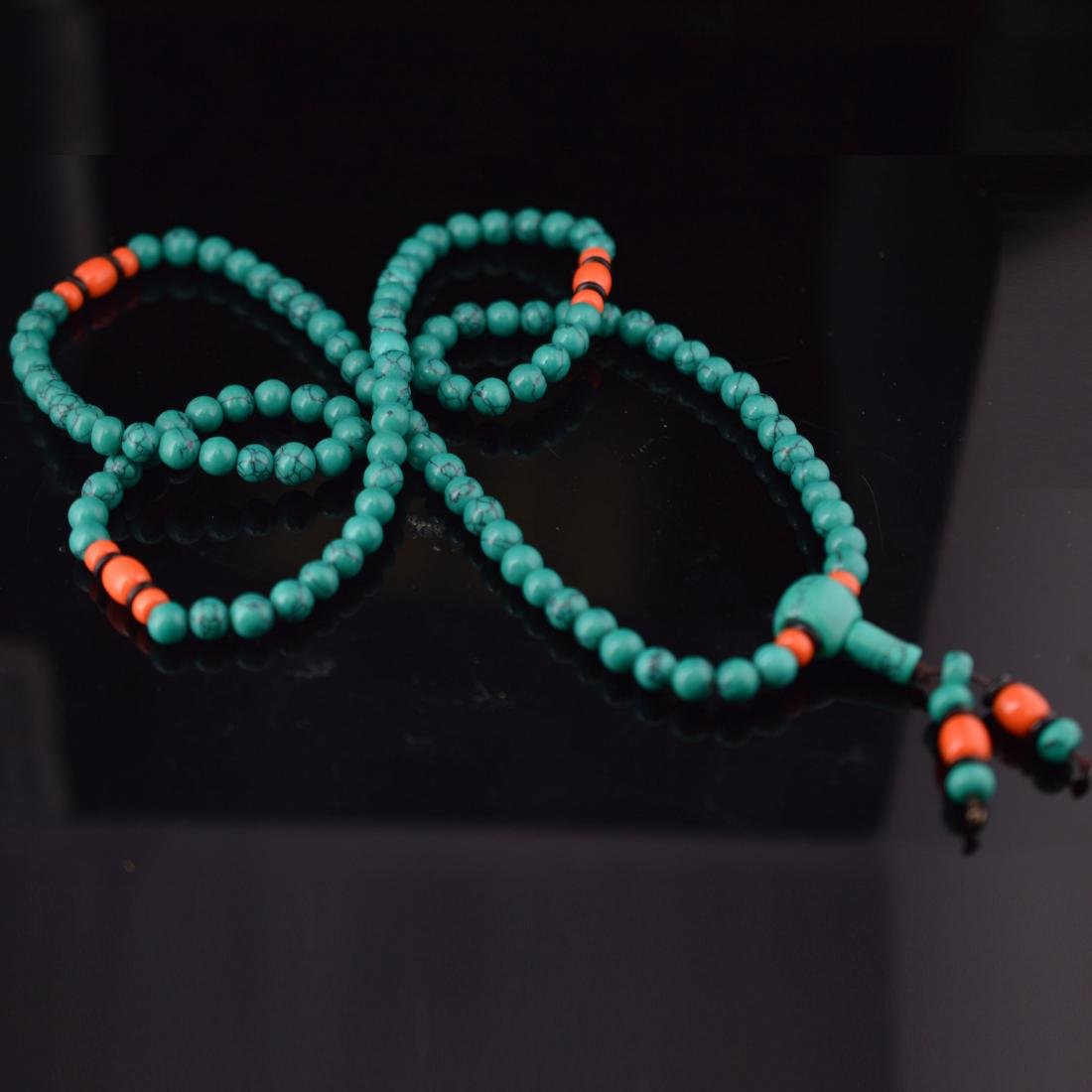 Turquoise Bead Necklace - 4