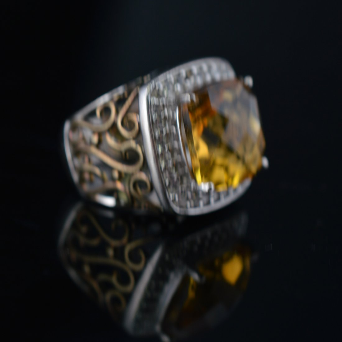 Citrine Silver Ring - 2