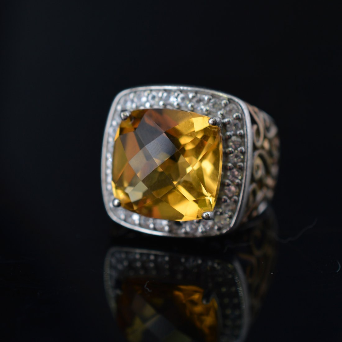 Citrine Silver Ring - 3