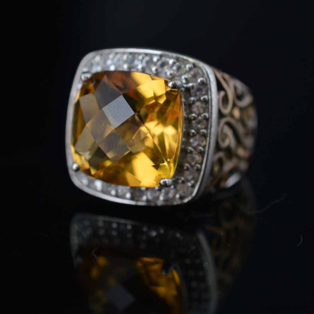 Citrine Silver Ring - 4