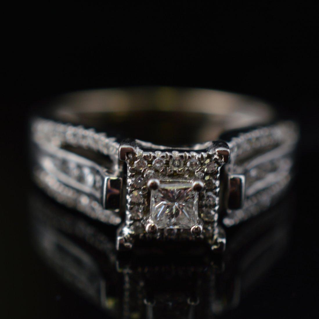0.25ct Diamonds 14k White Gold Ring - 2