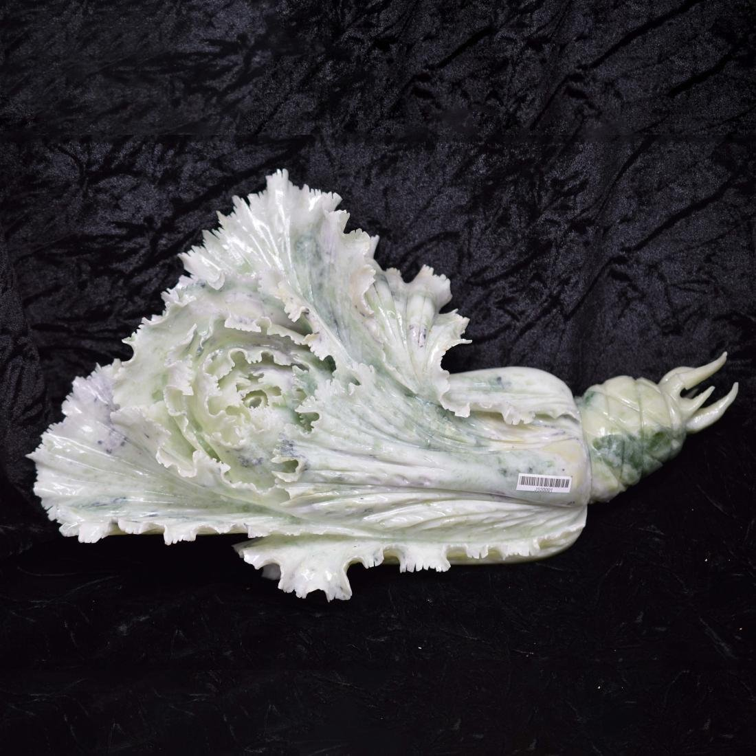 Jadeite Carved Napa Cabbage Ornament