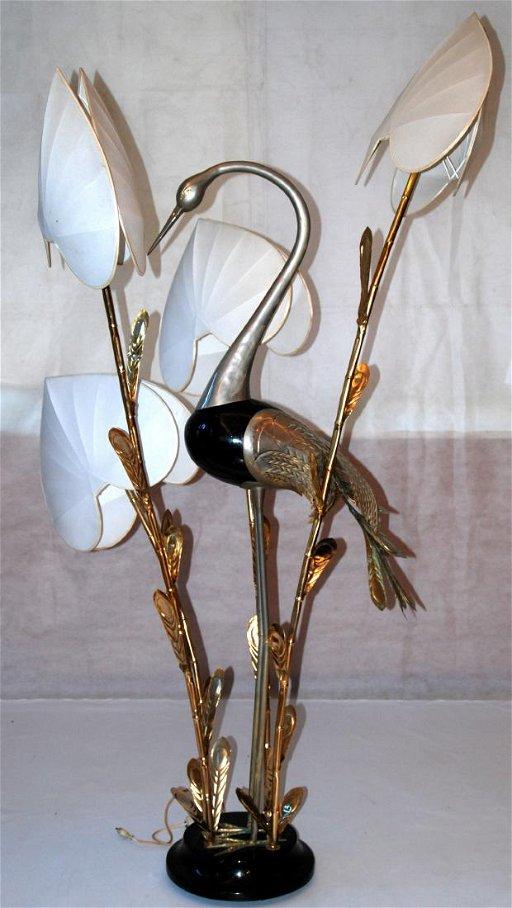 Antonio Pavia lampada da terra con airone cm x - May 18