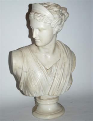 Pierre Jules Cavalier 1814-1894 scultura in marmo