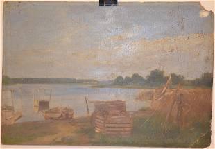 """""""Village landscape"""" by Unknown Artist"""