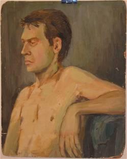 """Male portrait"" by Unknown Artist"