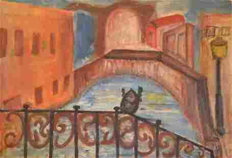 """""""Bridge view"""" by Unknown Artist"""