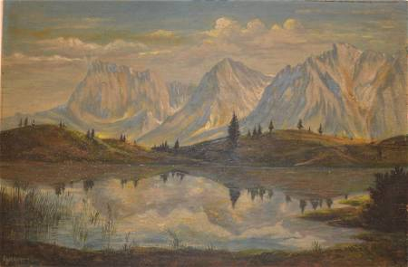 """""""Mountain"""" Signed by Unknown Artist"""