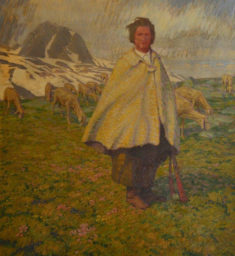"Erich ERLER (GERMAN) ""Shepherd with ships"""