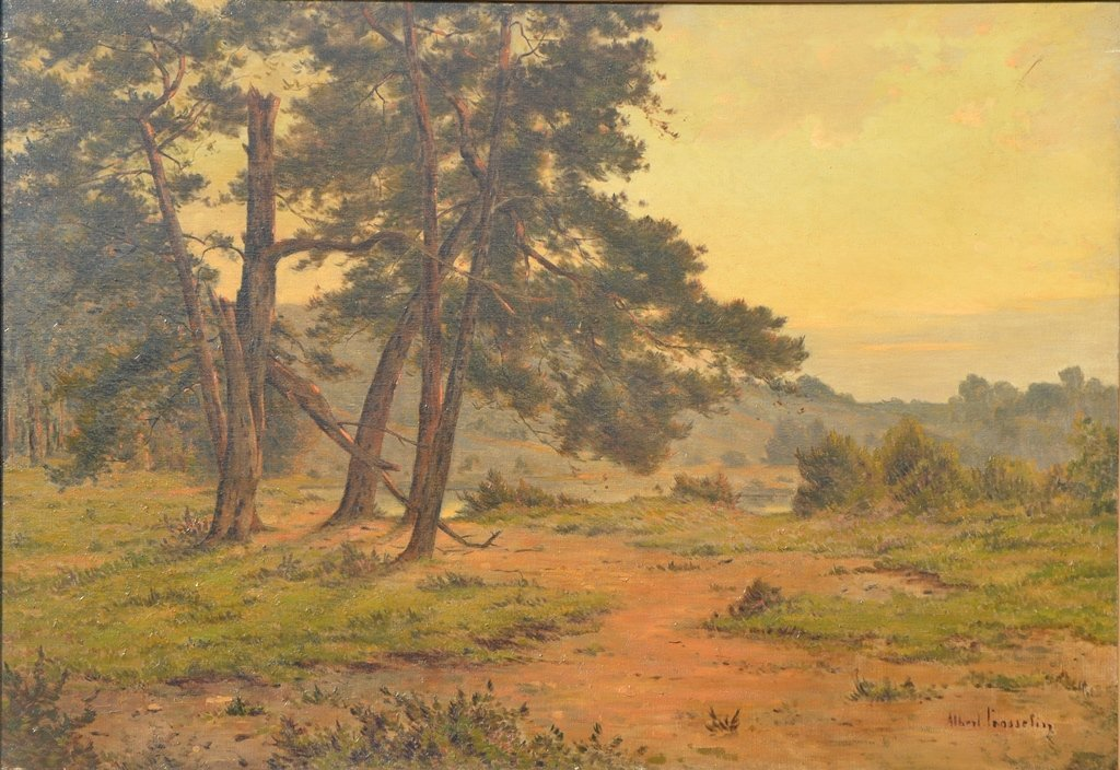 """Albert GOSSELIN (FRENCH) """"Landscape with old pines"""""""