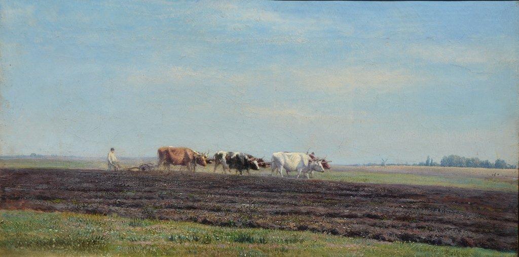"""Mikhail Konstantinovich KLODT (RUSSIAN) """"Plowing"""""""
