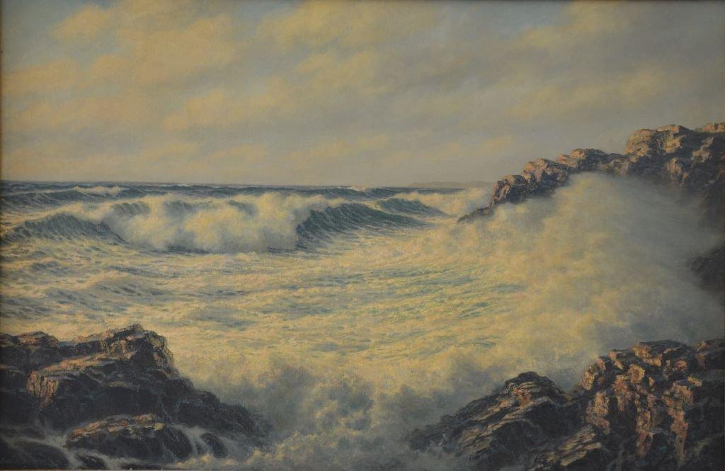 "Josef M. ARENTZ (AMERICAN) ""Seascape"""