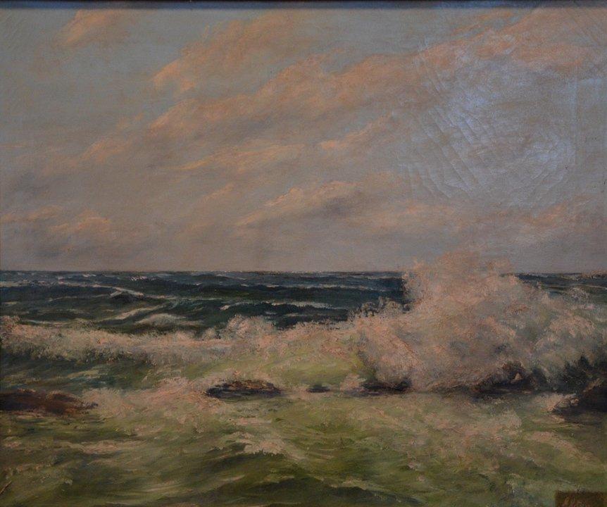"""Ernst ELSTER (1893-c.1955) """"Seascape"""""""