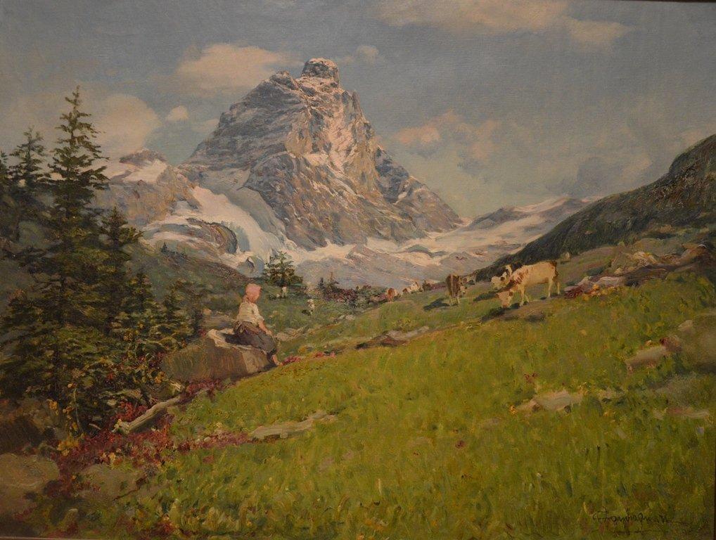 """Ottorino I CAMPAGNARI (ITALIAN) """"Mountain Landscape"""""""