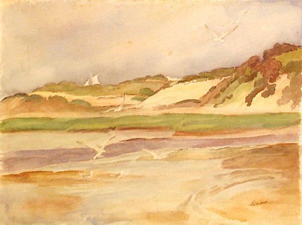 1: Cape Cod Dunes Painting by Edmund Franklin Ward