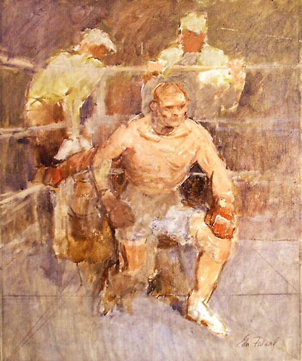 2: The Boxer Painting by Edmund Franklin Ward