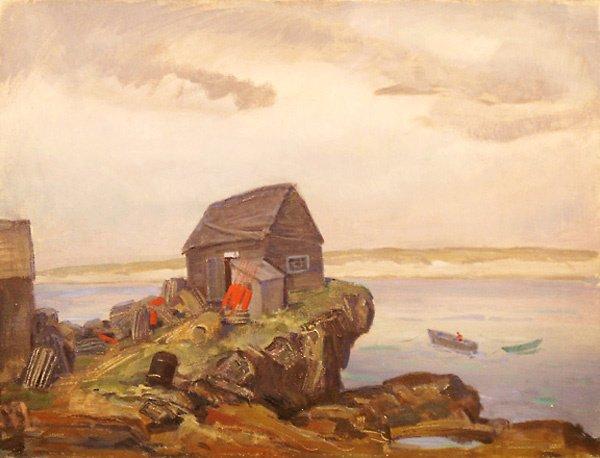 4: Fishermans Shack Painting by Edmund Franklin Ward