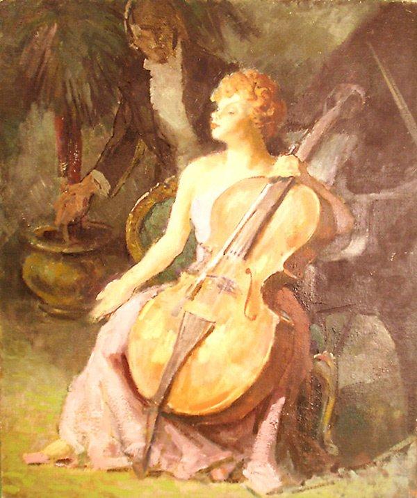 5: Cellist Painting by Edmund Franklin Ward
